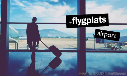 en flygplats