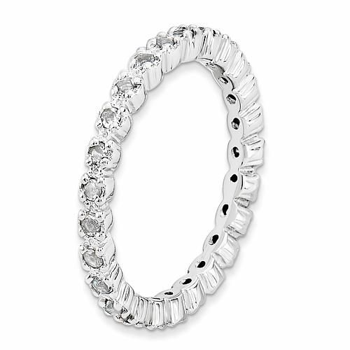 Simply Stacks™ Sterling Silver Gemstone Eternity Stack Ring – Blue