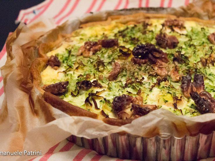 Torta salata zucchine porri e ricotta ricetta