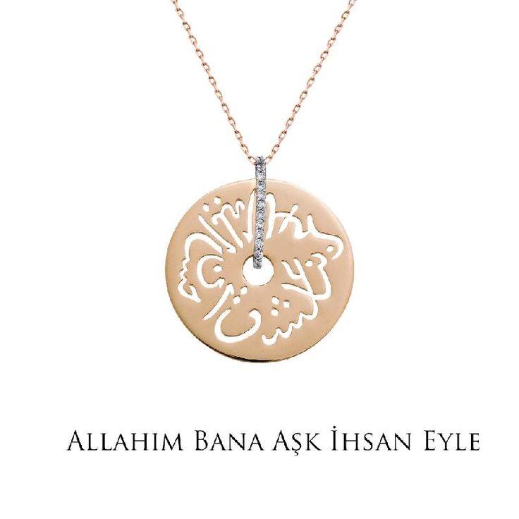 Ramazan ayında tüm dualarımız sevdiklerimiz için... Altın Seb'a Kolye - Allah'ım bana aşk ihsan eyle!
