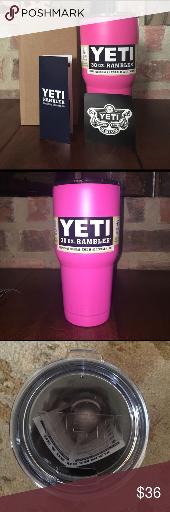YETI Rambler 30 oz. Tumbler YETI Rambler 30 oz. Tumbler •Pink Powder-Coated Stainless Steel• Authentic• Box included• Price Firm• YETI Other