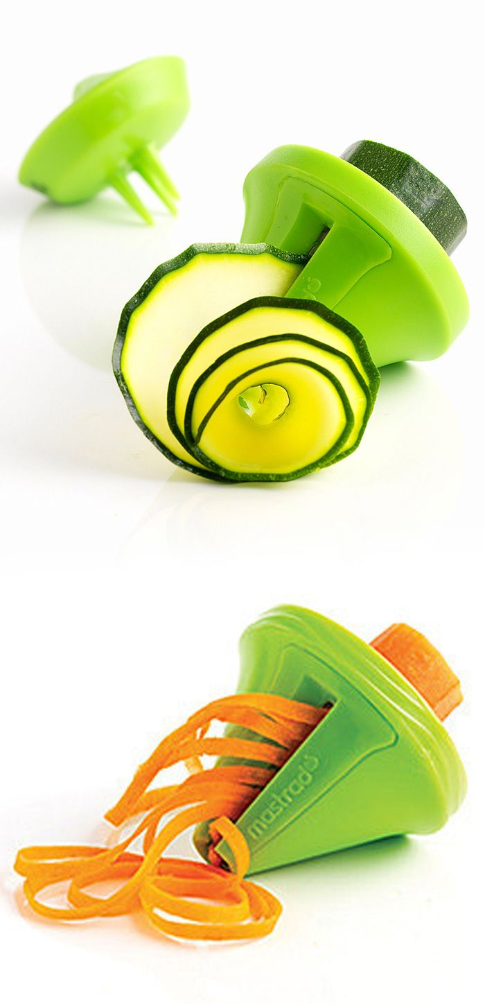 "Green vegetable decorative spiral slicer - great for veggie ""noodles"" and salads #product_design"