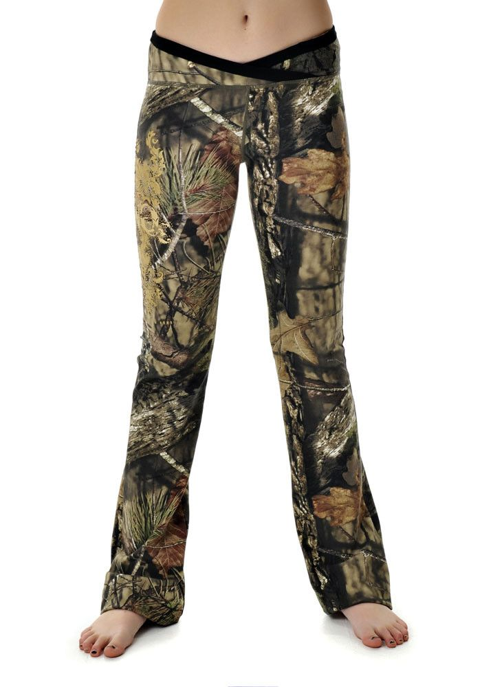 The Mossy Oak Break-Up Country Girls With Guns Clothing Lounge Pants have a very flattering fit and are the most comfortable pair of Camo Yoga Pants a Country Girl could ask for!