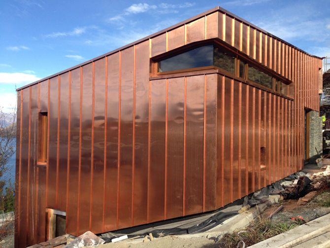 Copper Cladding Project In Queenstown New Zealand