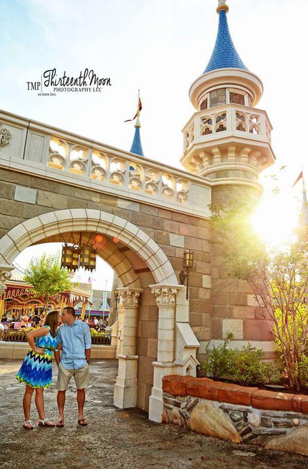 Magic Kingdom Disney Engagement Photos: Monica + Phil