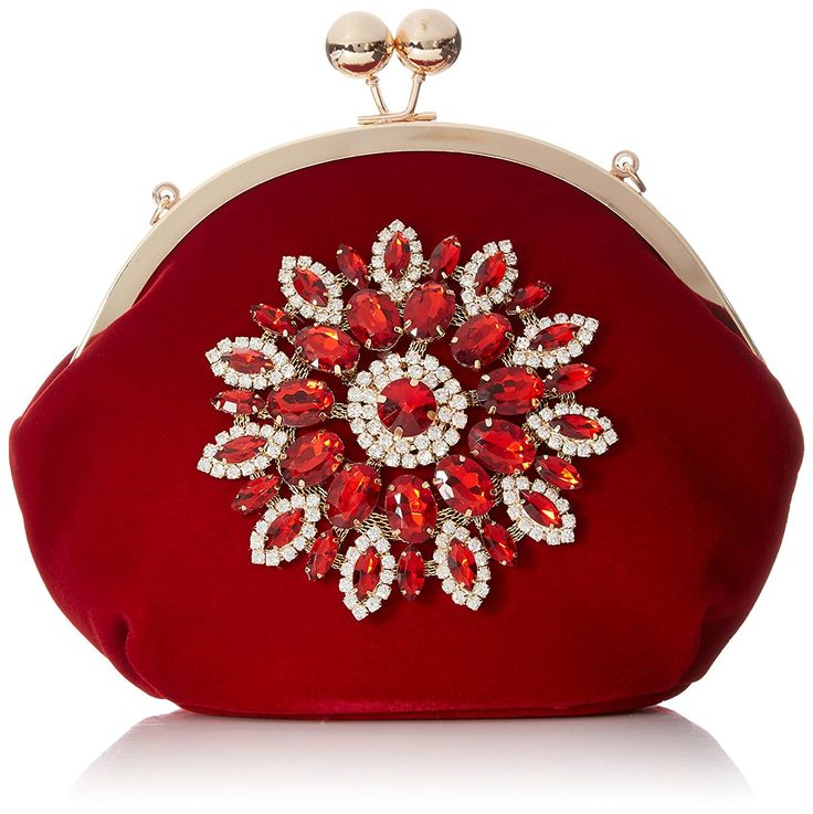XIANGYI Evening Bag for Women Elegant Rhinestone Floral Purses -- Additional details at the pin image, click it