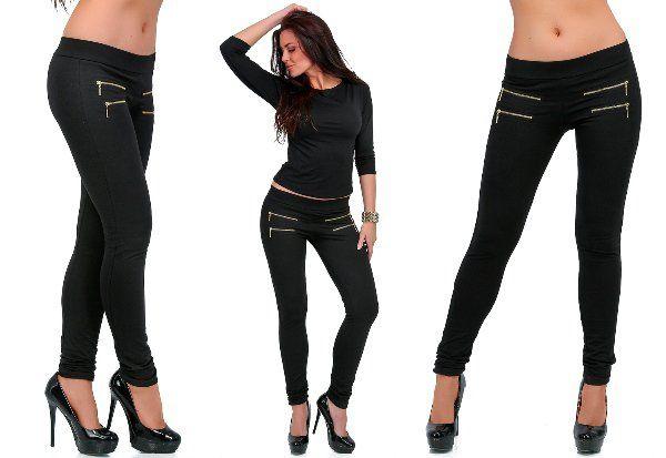 500... Kalhoty s ozdobnými zipy > XXL