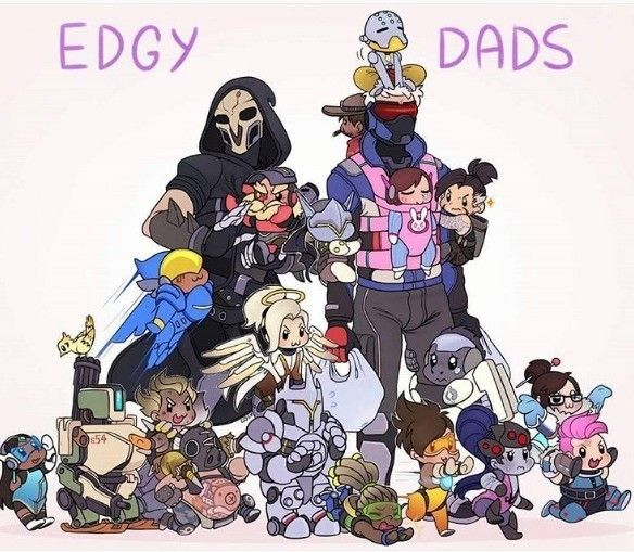 no, reaper and soldier 76 are gay fathers for all - Comment #88 added by iceguy at Dad 76 Comp.