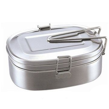 Only US$8.39 , shop 2 Layer Stainless Steel Lunch Box Bento Box Food Container Portable Multifunction Dinner AAccessorie.s at Banggood.com. Buy fashion Lunch Boxes online.