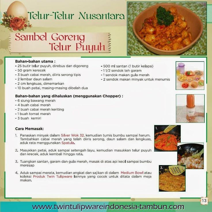 Sambel Goreng Telur Puyuh - Edisi #Resep Masakan #Tulipware, Silver Wok, Chopper