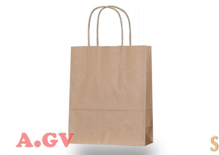 Papiertüten - 40 Papiertragetaschen 18+8x22 cm Papiertüten braun - ein Designerstück von agv-onlineshop bei DaWanda