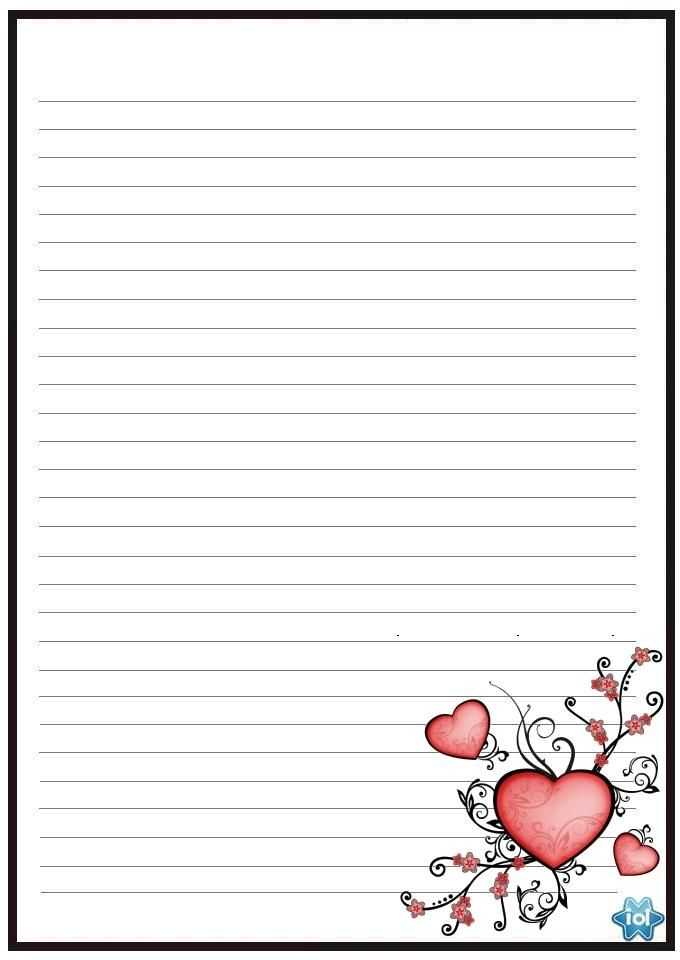 Papel Cartas De Amor Felicidades A Dois Writing Paper Printable Stationery Free Printable Stationery Printable Lined Paper