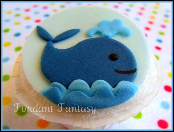 Whale Cupcake Topper by FondantFantasy on Etsy, $16.00