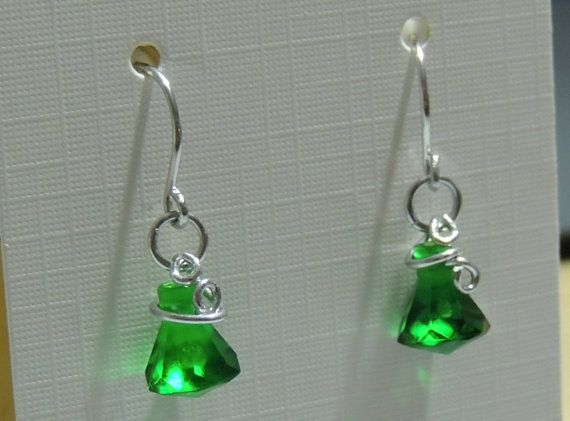 Translucent Green Lego Drop Earrings with by StarTideDesigns, $15.00