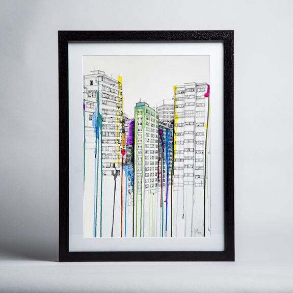 Marc Allante - Hold Your Breath - Framed print