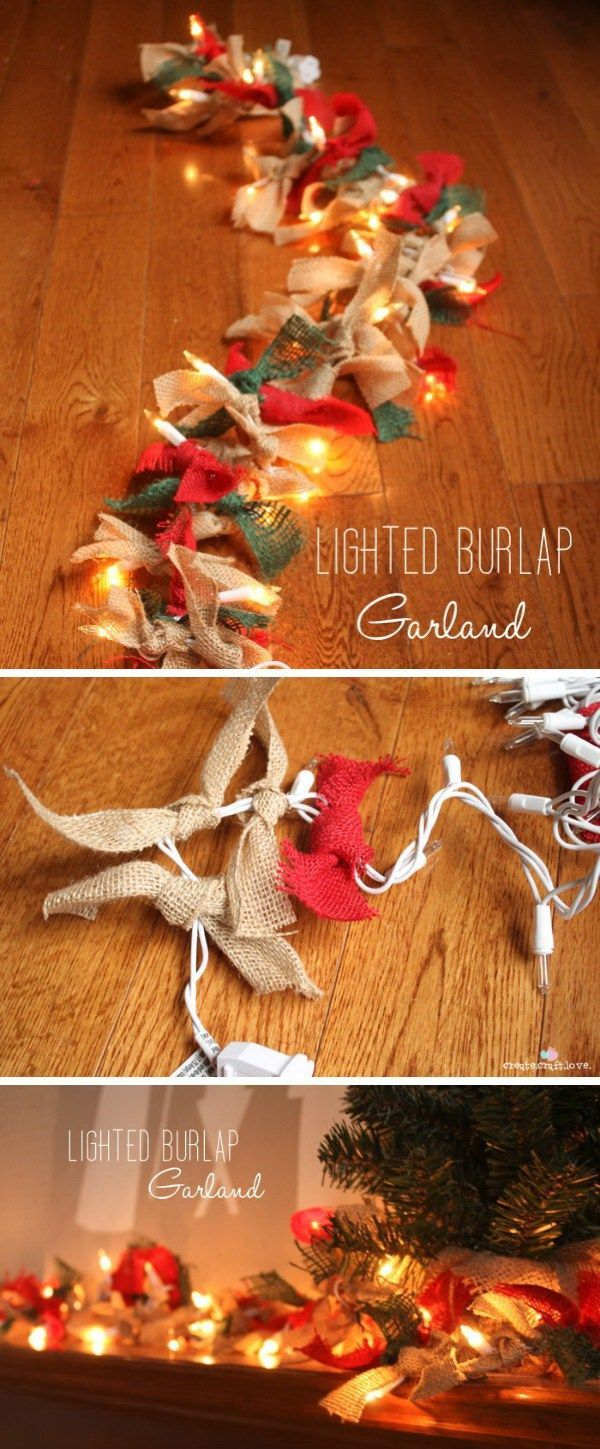 Best ideas about burlap garland on pinterest
