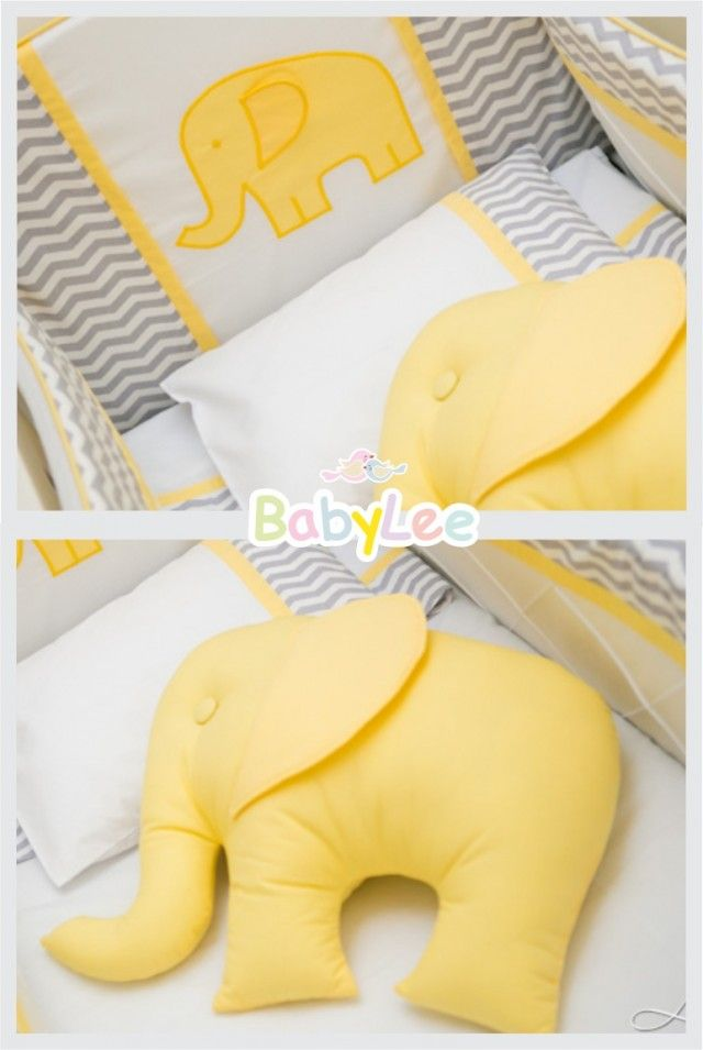 Almofada elefante amarelo