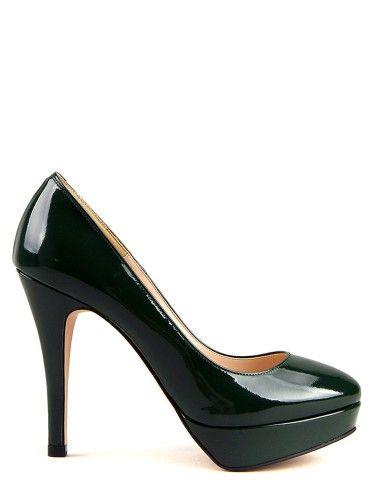 Yoomstreet's Elisa Platform pump Autumn green color;))) #yoomstreet#pumps#platform pumps#darkgreen#fashion#women#woman#beautiful#elegant