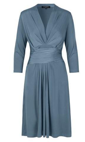 Ilse Jacobsen, Wrap Effect Dress, Agean Blue