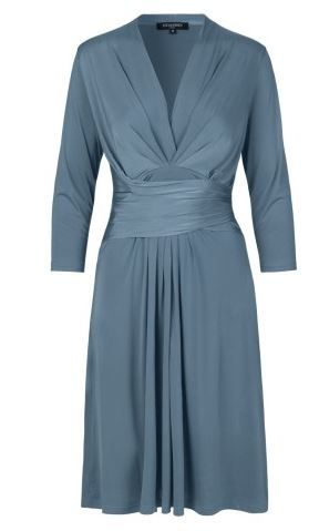 Ilse Jacobsen, Wrap Effect Dress, Agean Blue