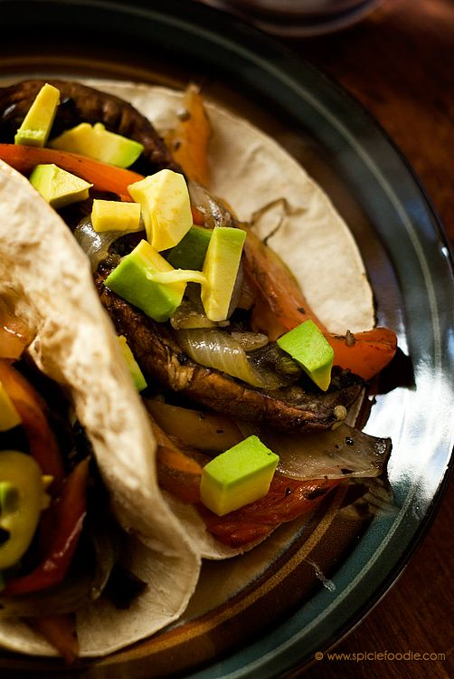 Portobello Mushroom and Cubanelle Pepper Tacos...Use lettuce wraps instead of tortillas!