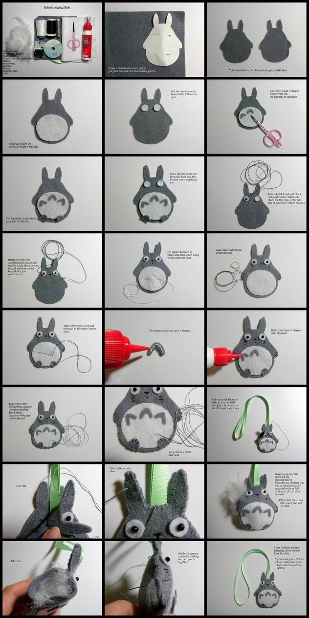 Totoro Hanging Plush Tutorial. by EmilyHitchcock on DeviantArt