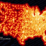The Map Of America Visualized By McDonalds Locations