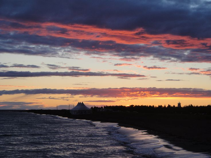 Sunset after Lobster Party on the Beach at West Point, PEI. September 2013. Photo by Ariana Salvo