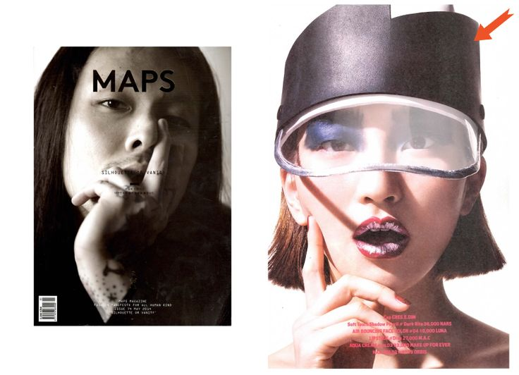 Fashion and Culture Magazine, MAPS features the new hat from CRES. E DIM. FW 14 collection on their April issue.