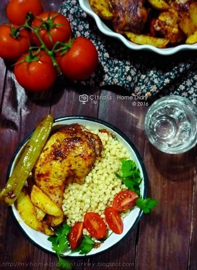 Citra's Home Diary: Smoked Paprika roasted chicken with pearl couscous pilaf