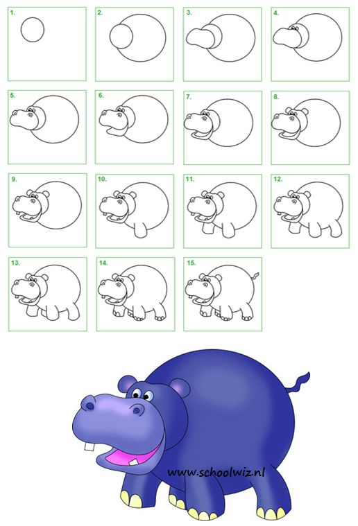 Draw a Hippo | Drawing Lessons for Kids (Scheduled via TrafficWonker.com)