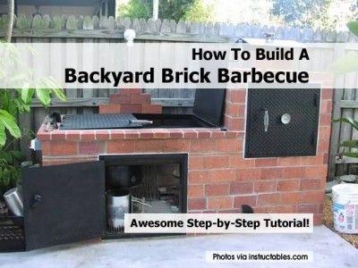 how to build a backyard brick barbecue hibachi grill bbq smoker