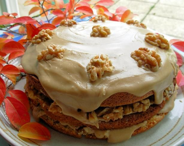Canadian Maple Walnut Layer Cake With Fudge Frosting. Photo by French Tart