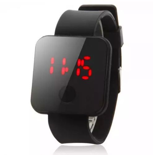 Square-Style-Waterproof-LED-Quartz-Movement-Wrist-Watch-Black