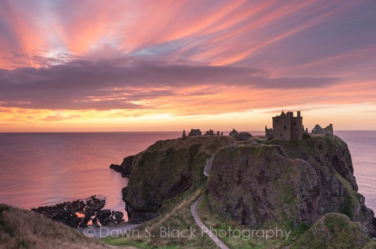 Summer Dawn at Dunnottar Castle, Stonehaven, Scotland