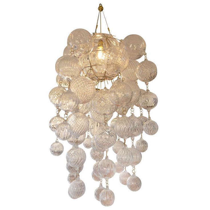 Chandelier Apollonio by Borek Sipek, circa 2010  PRICE:$6,672 Purchase  CREATOR:Driade (Manufacturer), B. Sipek (Designer) OF THE PERIOD:Modern COUNTRY:Italy DATE OF MANUFACTURE:2010 MATERIALS:Murano Glass CONDITION:Excellent HEIGHT:41.34 in. (105 cm)