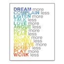 More and Less List Wall Art- White 30