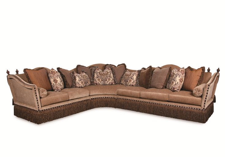 Lorraine Fringed Sectional Sofa By Rachlin Classics In