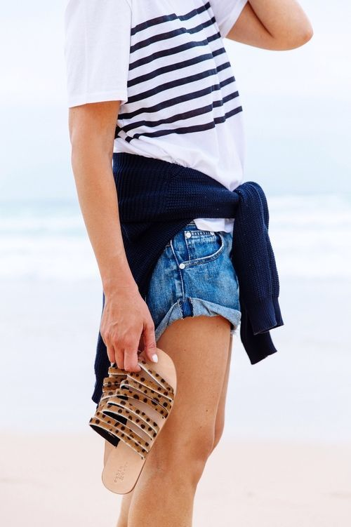 The perfect beach casual get-up.