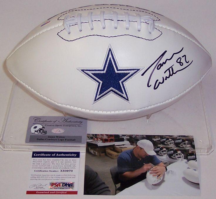 Jason Witten Autographed Hand Signed Dallas Cowboys Logo Football - PSA/DNA