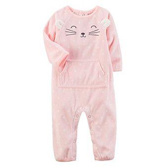 Carter's® Baby Girls' Fleece Character Jumpsuit