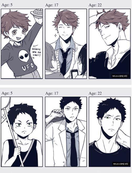 Haikyuu!! ~~ Growing Up! - Oikawa Tooru and Iwaizumi Hajime