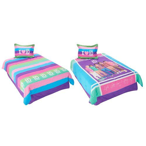 Charming One Direction Twin Comforter Set Color Blocks Bedding
