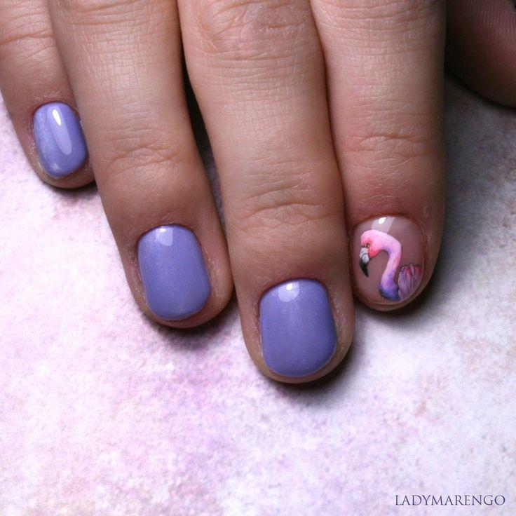 #geeknails #ladymarengo #шеллак #гельлак #нейларт #ногти #маникюр #дизайнногтей #nailart #naildesign #nails#flamingo#фламинго