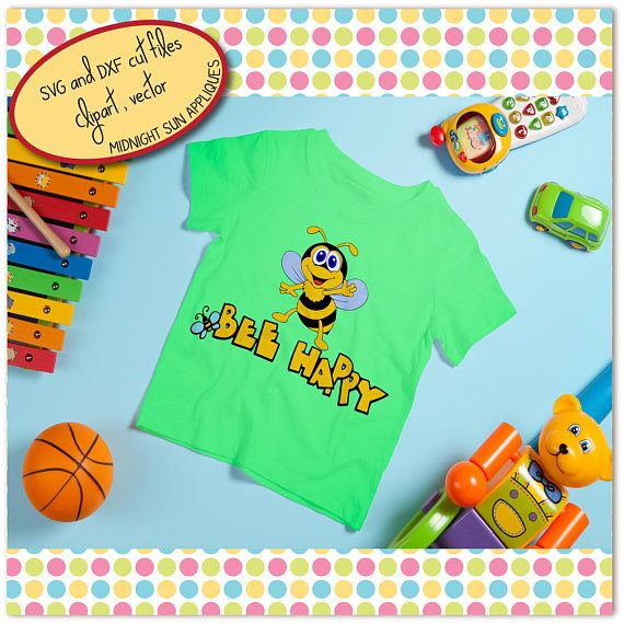 Bee SVG DXFclipart bee cut file cute beesvg for kids