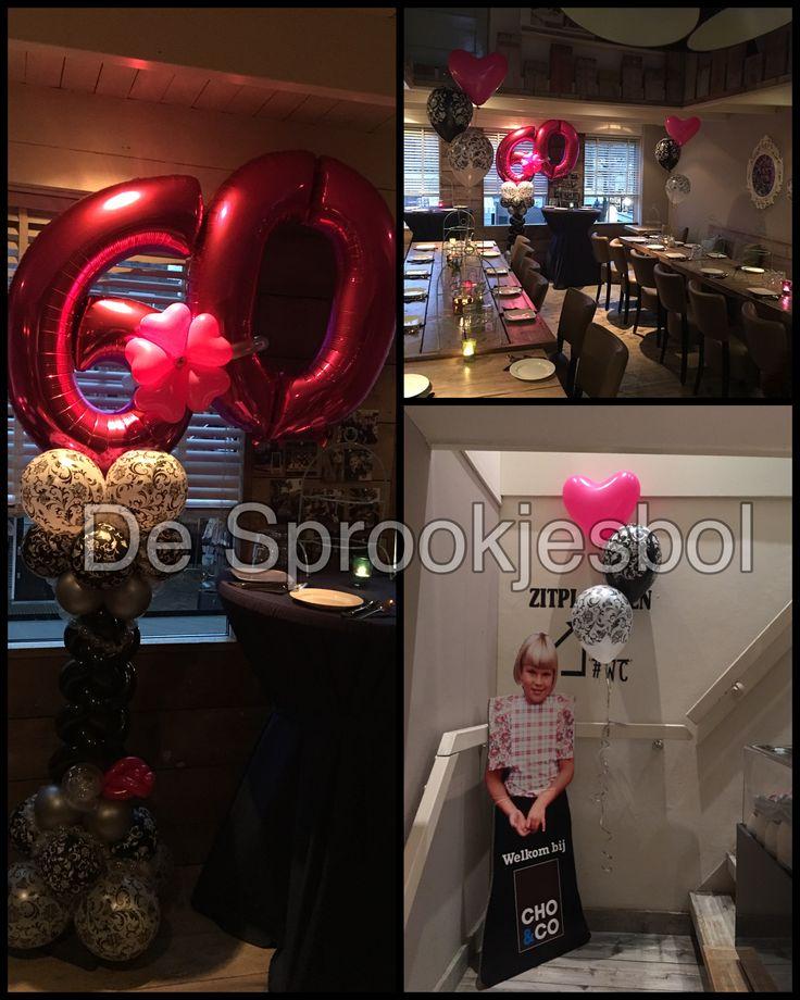 76 best images about decoratie ballonnen van de for Decoratie 60 jaar