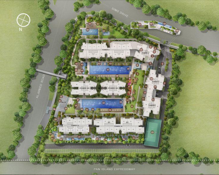 Sims Urban Oasis - Siteplan