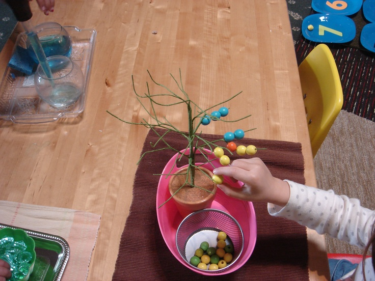 Created this activity with a easter tree and beads.  The kids love it.  Great use of concentration & fine motor control.