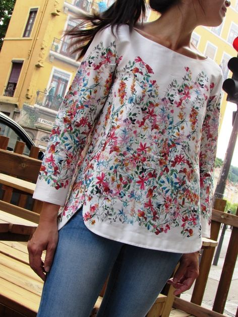 "Blouse Cezembre ""Flowers"" par Mydress-made.com - thread&needles"