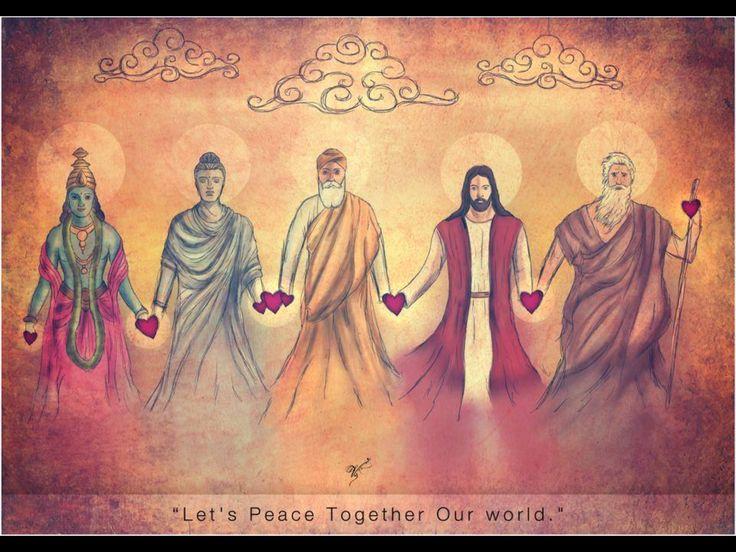 Unity. Love. Peace. Asended Masters. Krishna. Buddha. Guru Nanak. Jesus. Mohammed